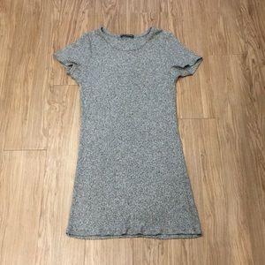 Brandy Melville soft tee shirt dress ribbed OS